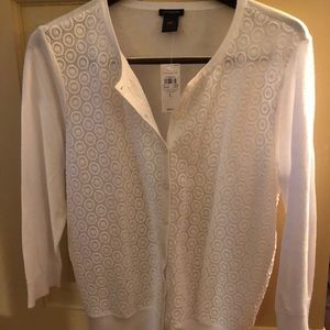 Ann Taylor Crocheted Front Cardigan - Large - NWT